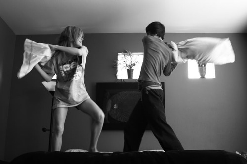 add-couple pillow fight