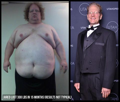 350 lb man weight loss