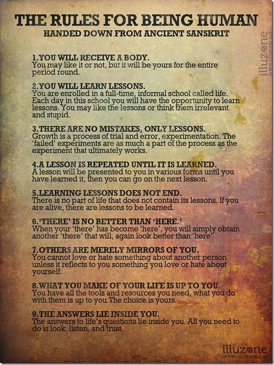 Image result for The 9 Rules of Being Human (Handed Down from Ancient Sanskrit)