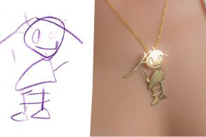 They Transform Kid's Drawings Into Beautiful Pieces Of Jewelry!